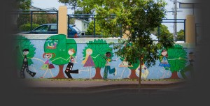 schoolground mural